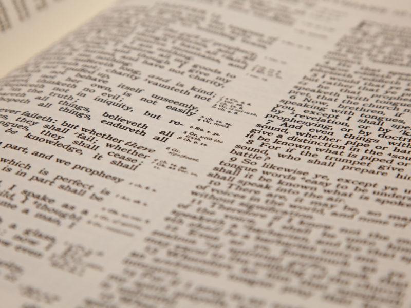 read, bible