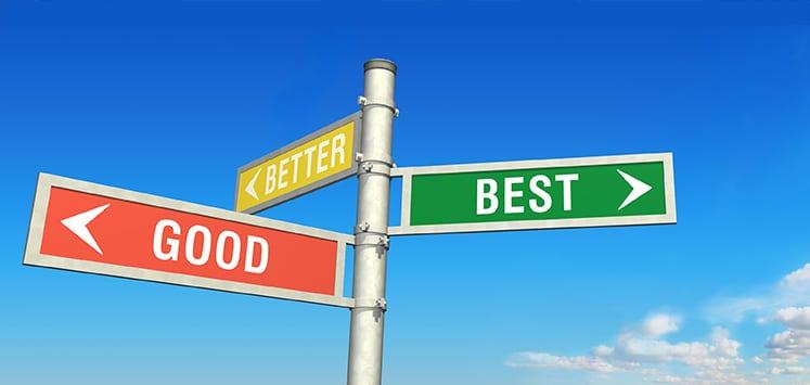 Determine what is best