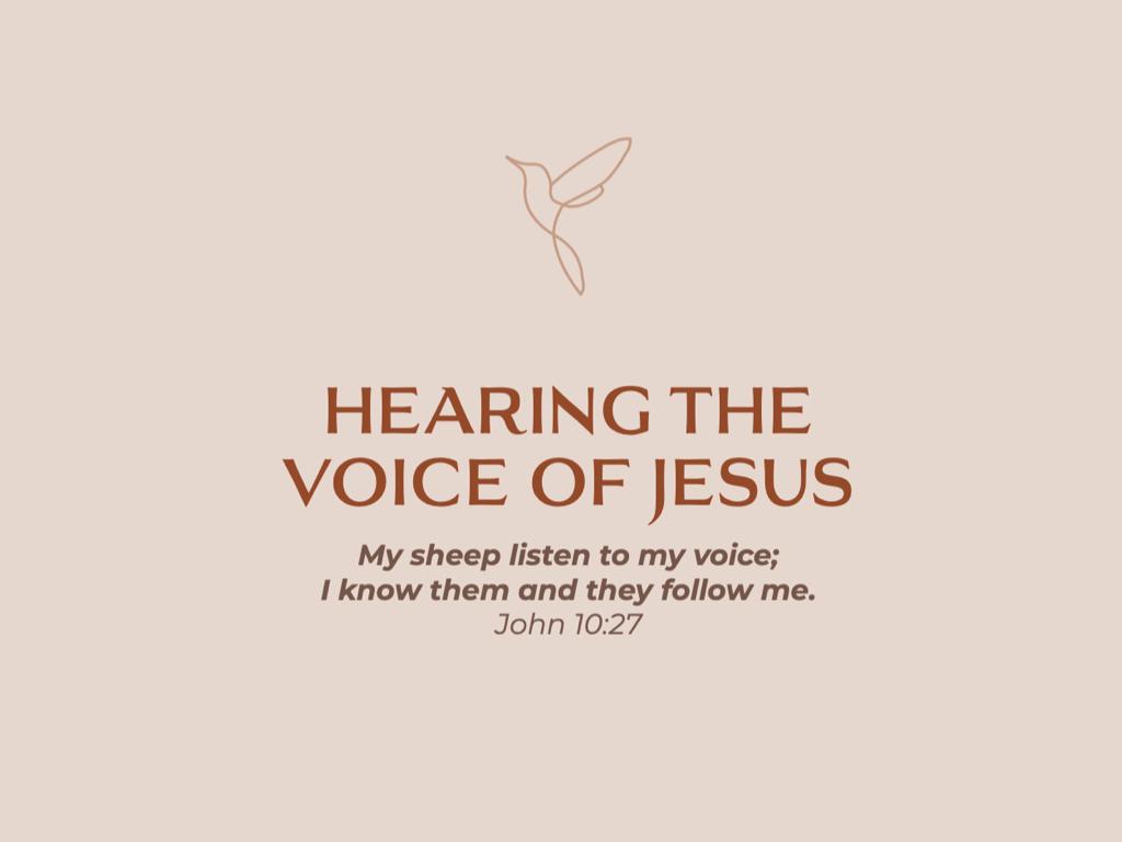 Hear Jesus